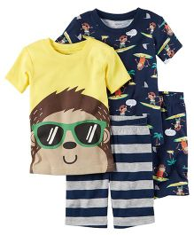 Carter's 4-Piece Snug Fit Cotton PJs - Multi Color