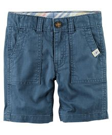 Carter's Herringbone Shorts - Blue