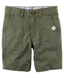 Carter's Herringbone Shorts - Olive