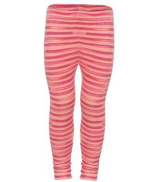 Earth Conscious Full Length Leggings Stripe Pattern - Pink