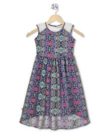 Budding Bees Printed A - Line Maxi Dress - Multicolor
