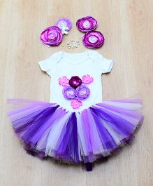 Tu Ti Tu Fairy Bodysuit & Tutu Skirt Set - Lavender & Purple