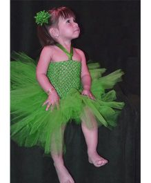 Dazzling Dolls Korker Applique Tutu Dress With Matching Headband - Lime Green