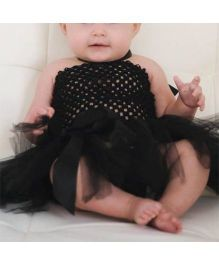Dazzling Dolls Tutu Dress With Matching Headband - Black