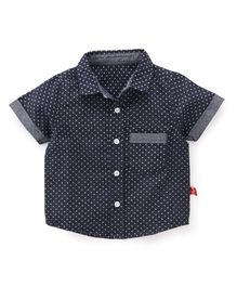 Bodycare Half Sleeves Printed Shirt - Deep Navy