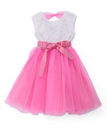 The KidShop Sequins Net Party Dress - Pink