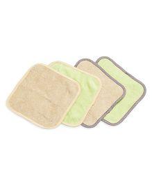 FS Mini Klub Wash Cloth Set Of 4 - Beige