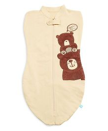 FS Mini Klub Swaddle Pod Teddy Patch - Brown