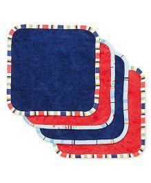 FS Mini Klub Wash Cloth Pack Of 4 - Blue Red