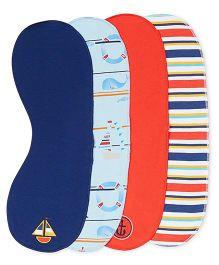 FS Mini Klub Burp Cloths Pack of 4 - Multicolour