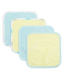 FS Mini Klub Wash Cloth Pack Of 4 - Yellow & Blue