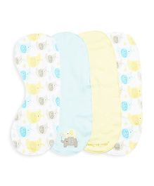 FS Mini Klub Burp Cloth Pack Of 4 - Multi Color