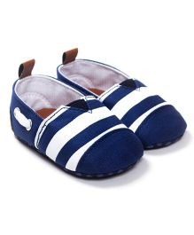Wow Kiddos Stylish Striped Booties - Blue
