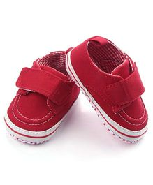 Wow Kiddos Velcro Style Booties - Red