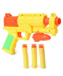 Grv Toy Gun With Soft Bullets - Yellow Orange