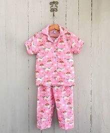 Frangipani Kids Unicorn Dreams Shirt & Pajama Set - Pink