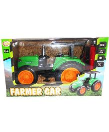 Emob Full Functional Remote Control Farmer Tractor Toy - Green