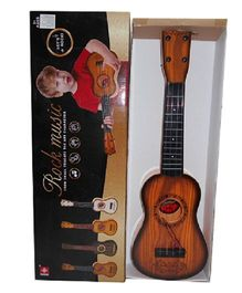 Emob Party Play Rock Music Guitar Toy - Brown