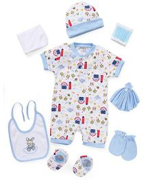 Mee Mee Clothing Gift Set Pack Of 8 - Blue White