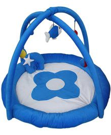 Amardeep Baby Play Gym Cum Play Mat - Blue