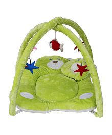 Amardeep Baby Play Gym Cum Bedding Teddy Design - Green
