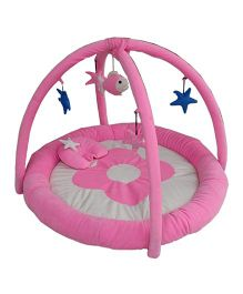 Amardeep Baby Play Gym Cum Play Mat - Pink