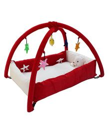 Amardeep Baby Playgym Cum Playpen - Red Lunch