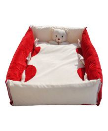 Amardeep Baby Bedding Set Cum Play Mat - Red White