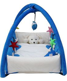 Amardeep Baby Playgym Cum Playpen - Blue White