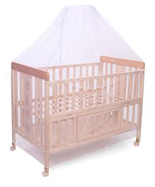 Mee Mee Baby Cot with Mosquito Net CH-389 A - Brown