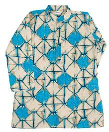 Raghav Splash Print Kurta - Blue