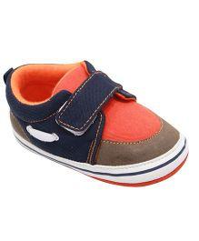 Kiwi Slip On Shoes Style Booties - Orange Blue