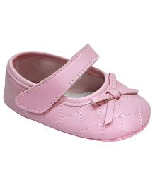 Kiwi Bellies Style Booties With Bow Applique - Pink