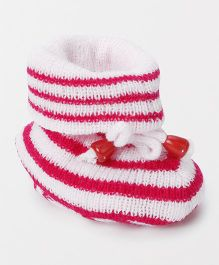 Cute Walk by Babyhug Winter Wear Sock Shoes - Pink White