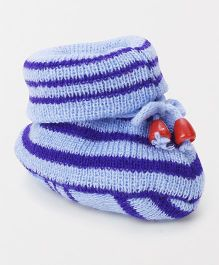 Cute Walk by Babyhug Winter Wear Sock Shoes - Blue