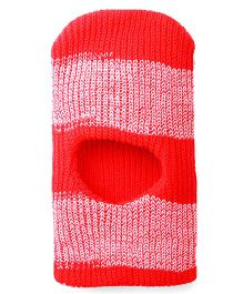Babyhug Monkey Cap Stripes Pattern - Coral