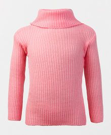 Babyhug Full Sleeves Pullover Sweater - Pink