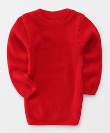 Babyhug Full Sleeves Round Neck Sweater - Red
