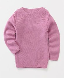 Babyhug Full Sleeves Round Neck Sweater - Pink