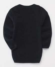 Babyhug Full Sleeves Round Neck Sweater - Black