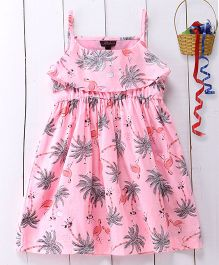 Pspeaches Cotton Strap Dress - Pink