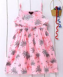 Pspeaches Cotton Strap Dress - Pink