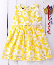 Pspeaches Sleevless Cotton Dress - Yellow