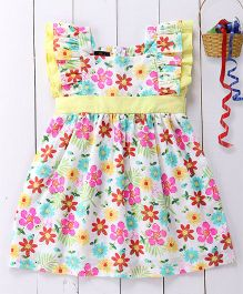 Pspeaches Cotton Frill Dress - Multicolor