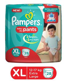 Pampers Pant Style Diapers Extra Large - 28 Pieces