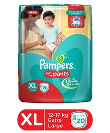Pampers Pant Style Diapers Extra Large - 20 Pieces
