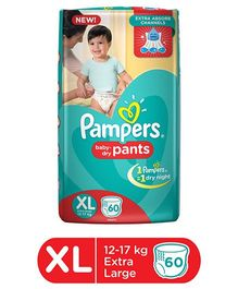 Pampers Pant Style Diapers Extra Large - 60 Pieces