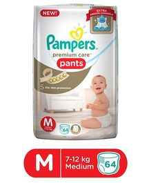 Pampers Premium Care Pant Style Diapers Medium - 64 Pieces