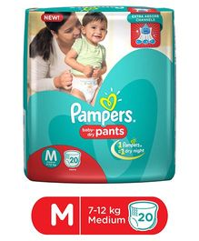 Pampers Pant Style Diapers Medium - 20 Pieces