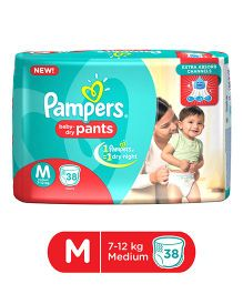 Pampers Pant Style Diapers Medium - 38 Pieces